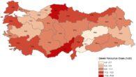 TR62 (Adana, Mersin) Bölgesi göreli yoksulluk oranına göre 2.sırada yer alıyor