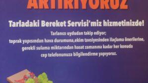 Türkiye'de ve dünyada ilk; Tarladaki Bereket Servisi
